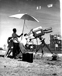 1961 Television Camera Cameramen Filming Atlas Rocket Press Photo
