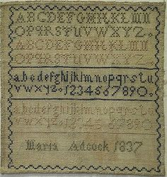 SMALL-EARLY-19TH-CENTURY-ALPHABET-SAMPLER-BY-MARIA-ADCOCK-1837