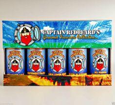 Captain Redbeard's Gourmet Treasure 5 Bottle Collection Quality Seasonings