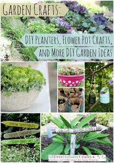 NEW! 34 Garden Crafts: DIY Planters, Flower Pot Crafts, and More DIY Garden Ideas