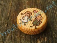 Kézműves Termék Fa Hűtőmágnes Kézzel Készített Egyedi Különleges Ajándék Esküvőre Évfordulóra