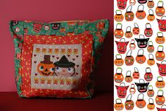 *Love* this Halloween cross-stitch pattern designed by Heidi Kenney available at Kitschy Digitals. Here she stitched it up and made it into a bag. : ) Makes me super excited for Fall. Cross Stitch Embroidery, Cross Stitch Patterns, Yummy World, Halloween Cross Stitches, All The Colors, Color Patterns, Pattern Design, Holiday Decor, Fabric