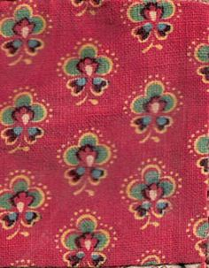 c. 1840 turkey red fabric
