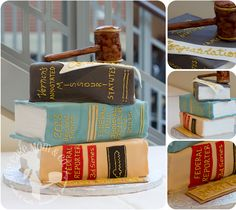 Judge Retirement Cake via The Cake Mom & Co.
