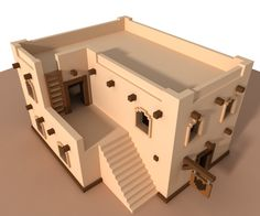 """Chris Clarkさんのツイート: """"Initial work on a #building design for my game. Built in…"""