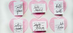 Printables for these Valentine cards