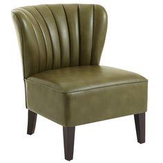 Emille Channel Back Chair - Cedar | Pier 1 Imports