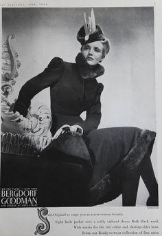 Bergdorf Goodman suit Bazaar 1938 vintage fashion