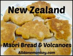 New Zealand: Maori Bread and Volcanoes {Around the World in 12 Dishes} - All Done Monkey New Zealand Food, New Zealand Art, Honeymoon In New Zealand, World Crafts, Thinking Day, Volcanoes, Cooking With Kids, How To Make Bread, Stick Of Butter
