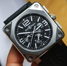 Bell & Ross design their watches based on 4 principles: optimal water resistance, extremely high accuracy, clear visual indicators & special functions, believe us, the Bell & Ross BR01-94 Pro Titanium Carbon Fiber watch perfectly uses all four ##watchesformen, #luxurywatches, #bestwatchbrands, #watches