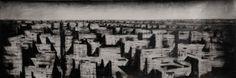 Suburbia 1: Jonathan Guaitamacchi - 2013, mixed media on canvas, cm 50x150