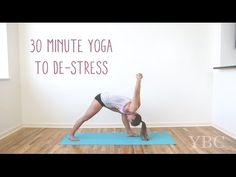 30 Minute Yoga Video to De-Stress — THIS ONE IS LONGER, BUT YOULL FEEL GREAT AFTER. BREATHE THROUGH IT. MODIFY WHAT YOU CANT DO.                                                                                                                                                                                 More