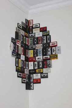 Old tapes becomes art #livingsweetliving