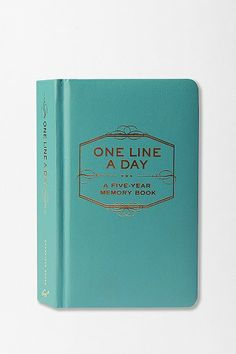 One Line a Day: A Five-Year Memory Book - how fun!