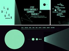 PLANÉTARIUM LUDIVER Design graphique et signalétique pour la nouvelle scénographie du planétarium.