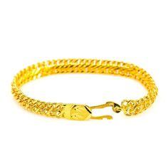 Gold Chain Men Gifts - Yellow Gold Bracelet W/ Textured Double Link Chain Mens Gold Jewelry, Gold Jewellery Design, Bracelets For Men, Link Bracelets, Gold Chains For Men, Diwali 2018, Natural Jewelry, Men Gifts, Chain Jewelry
