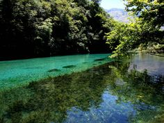 The Blue Eye (Albanian: Syri i kaltër, Greek: Μπλε μάτι Ble máti) is a water spring and natural phenomenon occurring near Muzinë in Vlorë County, Albania