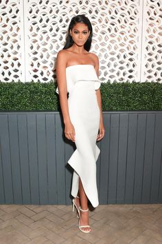 Chanel Iman in the NUDIST sandal at the SW x Vogue Dinner Event during NYFW SS17, Sept 12, 2016