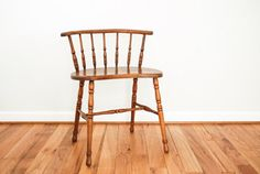 antique wood chair antique Windsor spindle back by littlecows