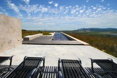 Farm 215, sustainable guesthouse. The 25 metre pool, filled with water & cleaned with salt
