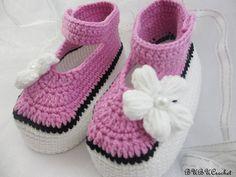 Crochet bebé zapatos botitas de bebé del ganchillo verano