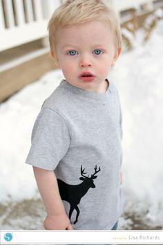 Fabric Ink Deer Shirt by Lisa Richards