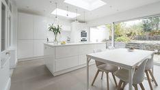 Chalkhouse sleek white gloss kitchen