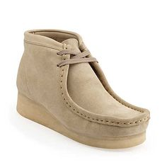 A blast from the past (70's). Wallabee Boot-Women in Sand Suede - Womens Boots from Clarks