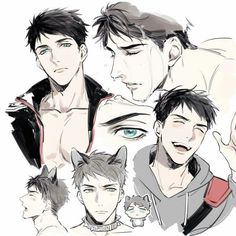 Image about anime in Free by ~Iced~ All~Over~ Manga Drawing, Manga Art, Manga Anime, Anime Art, Handsome Anime Guys, Cute Anime Guys, 19 Days Anime, Drawing Reference Poses, Fanarts Anime