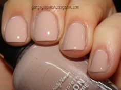 Sally Hansen's Gray-t Escape.  My new nail color...LOVE! It's the perfect nude with no (head scratch) gray undertones.