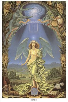 Buy Virgo posters and Virgo canvas prints from Johfra Bosschart's zodidac series. Also greeting card sets including Virgo. Zodiac Art, Astrology Zodiac, Zodiac Signs, Astrology Signs, Aries, Art Zodiaque, Art Visionnaire, Esoteric Art, Occult Art