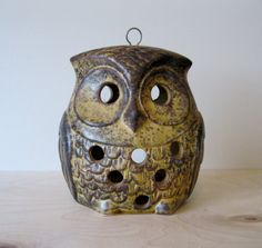 Vintage Ceramic Owl Hanging Candle Holder by Suite22 on Etsy, $12.00
