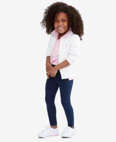 Ralph Lauren Girls' Cardigan, Mesh Polo & Pony Leggings
