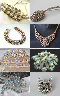 """Ah, yes, Stars & Rainbows of Vintage Aurora Borealis (AB) Jewelry! Perfect for the Bride, Wedding Party, Mother's Day Gift, or """"Just Because""""!"""
