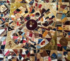 Exquisite crazy quilt, late 1800's