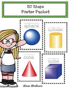 Shape activities: FREE 3D shape posters in a variety of sizes, so you can use them for anchor charts, flashcards, & games.