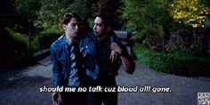 """Dirk Gently's Holistic Detective Agency """"Two Sane Guys Doing Normal Things"""" (1x08) - Dirk and Estevez -""""Cuz blood ALL GONE"""""""