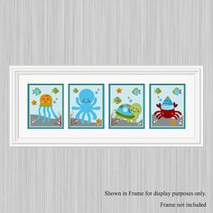 Set of 4 Unframed Ocean by PersonalizedbyDiane on Etsy