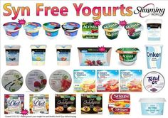 Syn free yoghurts astuce recette minceur girl world world recipes world snacks Slimming World Syns List, Slimming World Syn Values, Slimming World Desserts, Slimming World Recipes Syn Free, Slimming World Breakfast Ideas Quick, Slimming World Shopping List, Slimming Eats, Shopping Lists, Syn Free Snacks