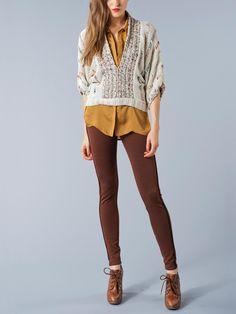 Babakul - Nadia Cropped V sweater