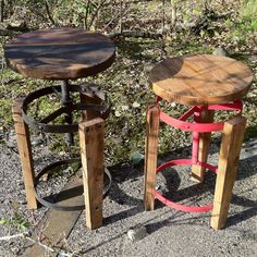 Bespoke Edition - Built to last crate stool in updated antique finish. Strong and sturdy  hand-made from exotic timber & Iron Available in bright Red or natural Black, perfect to be added to Crade tables. #upcycle #upcycling #upcycled #furniture #sustainable #design #sustainability #green #eco #friendly #moorbi #moorbi.com
