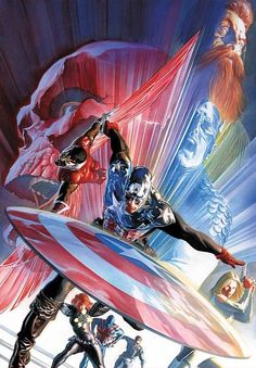 Captain America, Falcon & Black Widow by Alex Ross