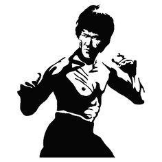 black and white bruce lee stencil - Google Search
