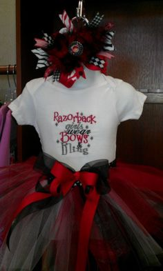 Arkansas Razorback embroidered Shirt TUTU and by alliekatzboutique, $38.99