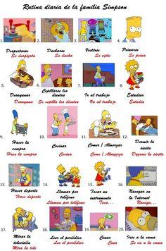 Rutina diaria de los Simpson En el pinterest de Catherine Maudet