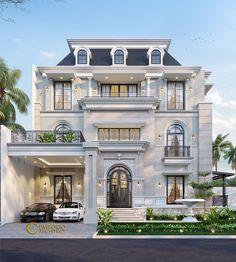 Classic House Exterior, Modern Exterior House Designs, Classic House Design, Latest House Designs, Bungalow House Design, House Front Design, Dream House Exterior, Exterior Design, Floor Design