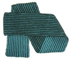 This is a basic 2-color brioche scarf with beautiful edges.  No selvedge brioche