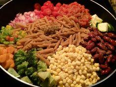 One Pot Veggie Overload Pasta Dish.