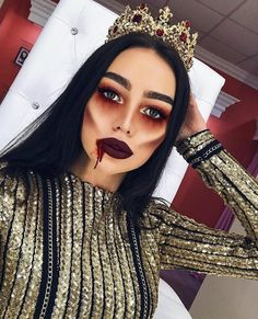Here are the best Halloween make-up . Hier sind die besten Halloween-Make-up-Looks, die Sie heute kopieren können Happy Halloween! Here are the best Halloween make-up looks that you can copy today - Creepy Halloween Makeup, Fröhliches Halloween, Halloween Inspo, Pretty Zombie Makeup, Simple Halloween Makeup, Nice Makeup, Demon Halloween Costume, Fancy Dress Makeup, Scary Makeup