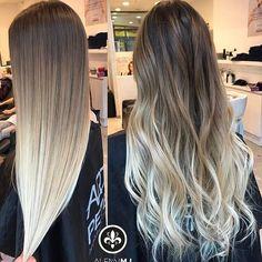 10 Ideas for Balayage on Straight Hair – Stylish Hairstyles Balayage Straight Hair, Hair Color Balayage, Hair Highlights, Bayalage, Balayage Brunette Long, Honey Balayage, Long Brunette, Brunette Color, Brown Balayage